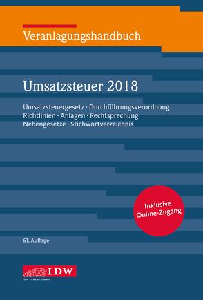 Veranlagungshandb. Umsatzsteuer 2018, 61. A. von Filtzinger,  Stephan, Widmann,  Werner