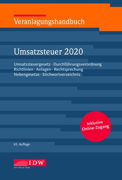 Veranlagungshandb. Umsatzsteuer 2020, 63. A. von Filtzinger,  Stephan, Widmann,  Werner
