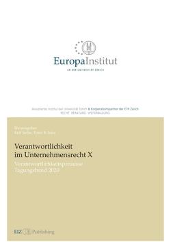 Verantwortlichkeit im Unternehmensrecht X von Isler,  Peter R., Sethe,  Rolf