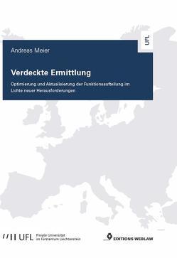Verdeckte Ermittlung von Meier,  Andreas