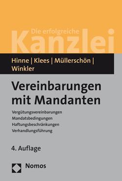 Vereinbarungen mit Mandanten von Hinne,  Dirk, Klees,  Hans, Müllerschön,  Albrecht, Winkler,  Klaus