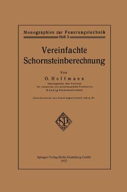 Vereinfachte Schornsteinberechnung von Hoffmann,  Otto