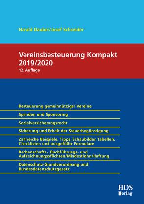 Vereinsbesteuerung Kompakt 2019/2020 von Dauber,  Harald, Schneider,  Josef