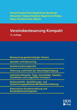 Vereinsbesteuerung Kompakt 2020/2021 von Birgel,  Karl, Dauber,  Harald, Herzberg,  Anja, Kamps,  Alexander, Nagel,  Stephan, Perbey,  Uwe, Pientka,  Klaus, Ulbrich,  Frank