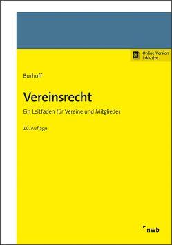 Vereinsrecht von Burhoff,  Detlef