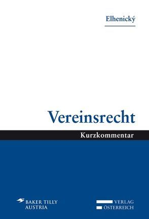 Vereinsrecht von Elhenický,  Richard