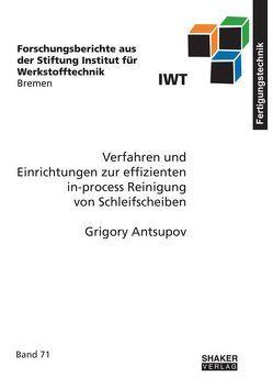 Verfahren und Einrichtungen zur effizienten in-process Reinigung von Schleifscheiben von Antsupov,  Grigory