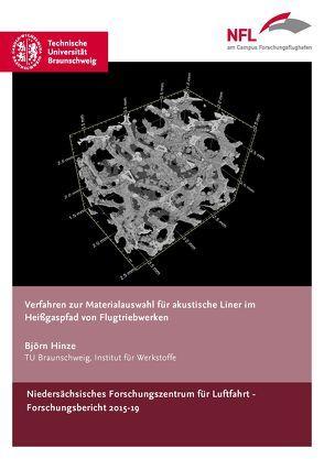 Verfahren zur Materialauswahl für akustische Liner im Heißgaspfad von Flugtriebwerken von Hinze,  Björn