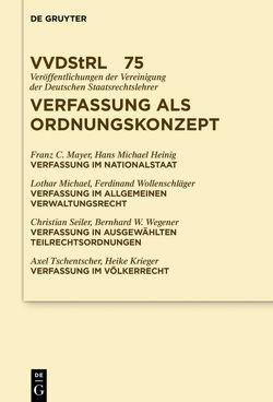 Verfassung als Ordnungskonzept von et al., Heinig,  Hans Michael, Mayer,  Franz, Michael,  Lothar