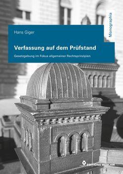 Verfassung auf dem Prüfstand von Giger,  Hans