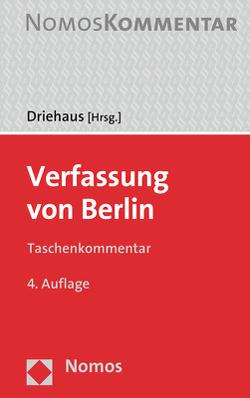 Verfassung von Berlin von Driehaus,  Hans-Joachim
