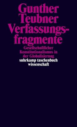 Verfassungsfragmente von Teubner,  Gunther