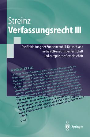 Verfassungsrecht III von Streinz,  Rudolf