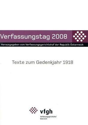 Verfassungstag 2008 von Verfassungsgerichtshof d. Republik Österreich