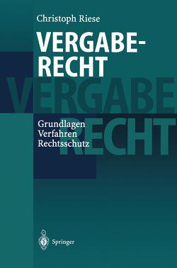 Vergaberecht von Riese,  Christoph, Theurer,  A.