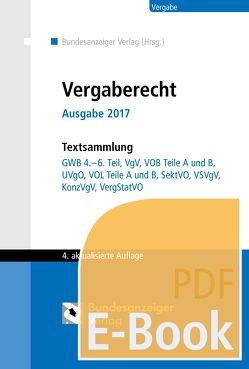 Vergaberecht – Ausgabe 2017 (E-Book)
