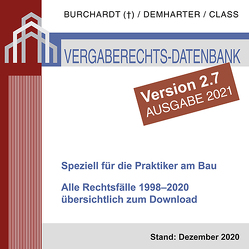 Vergaberechts-Datenbank 1998–2020 zum Download – Version 2.7 von Burchardt,  Hans-Peter, Class,  Tilman, Demharter,  Andreas