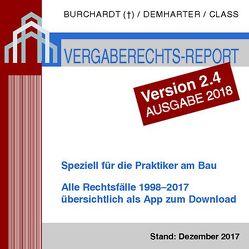 Vergaberechts-Report 1998-2017 – Version 2.4 von Class,  Tilman, Demharter,  Andreas