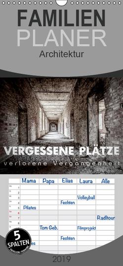 Vergessene Plätze – verlorene Vergangenheit – Familienplaner hoch (Wandkalender 2019 , 21 cm x 45 cm, hoch) von Schöb,  Monika