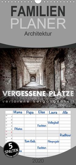 Vergessene Plätze – verlorene Vergangenheit – Familienplaner hoch (Wandkalender 2020 , 21 cm x 45 cm, hoch) von Schöb,  Monika