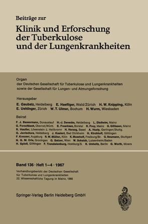 Verhandlungsbericht der Deutschen Tuberkulose-Tagung 1966 von Deutschen Tuberkulose-Gesellschaft, Deutschen Tuberkulose-Tagung, Deutschen Zentralkomitee zur Bekämpfung der Tuberkulose
