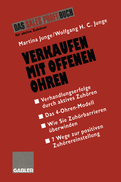 Verkaufen mit Offenen Ohren von Junge,  Martina, Junge,  Wolfgang H.C.