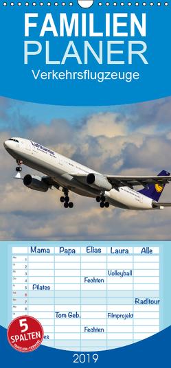 Verkehrsflugzeuge – Familienplaner hoch (Wandkalender 2019 , 21 cm x 45 cm, hoch) von Wenk,  Marcel