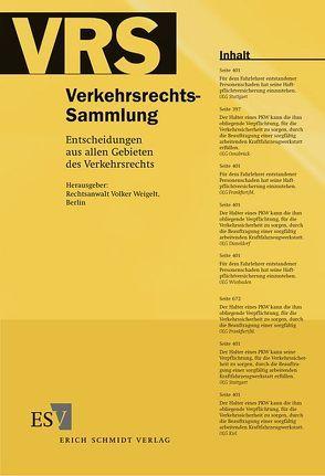 Verkehrsrechts-Sammlung (VRS). Entscheidungen aus allen Gebieten des Verkehrsrechts von Weigelt,  Volker