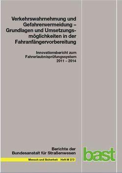 Verkehrswahrnehmung und Gefahrenvermeidung – Grundlagen und Umsetzungsmöglichkeiten in der Fahranfändervorbereitungnrvorbereitung