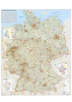 Verkehrswegekarte Deutschland von Stiefel,  Heinrich