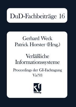 Verläßliche Informationssysteme von Horster,  Patrick, Weck,  Gerhard