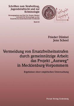 """Vermeidung von Ersatzfreiheitsstrafen durch gemeinnützige Arbeit: das Projekt """"Ausweg"""" in Mecklenburg-Vorpommern von Dünkel,  Frieder, Scheel,  Jens"""
