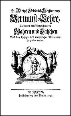 Vernunftlehre von Hoffmann,  Adolph Friedrich
