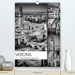 VERONA Monochrome Ansichten (Premium, hochwertiger DIN A2 Wandkalender 2021, Kunstdruck in Hochglanz) von Viola,  Melanie