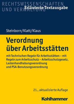 Verordnung über Arbeitsstätten von Klatt,  Karin, Klaus,  Michael, Steinborn,  Volker