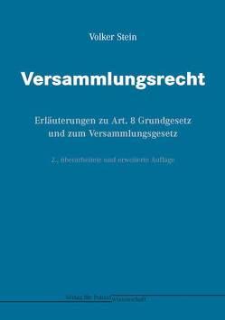 Versammlungsrecht von Stein,  Volker