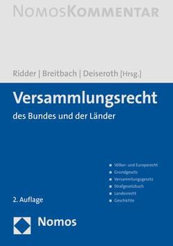 Versammlungsrecht von Breitbach,  Michael, Deiseroth,  Dieter, Ridder,  Helmut, Rühl,  Ulli F, Steinmeier,  Frank-Walter
