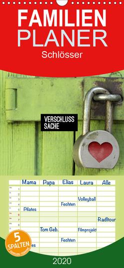 Verschlusssache – Familienplaner hoch (Wandkalender 2020 , 21 cm x 45 cm, hoch) von GM