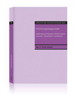 Versicherungsanlageprodukte von Scheiber,  Florian