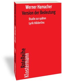 Version der Bedeutung von Hamacher,  Werner