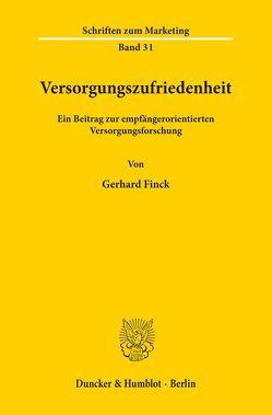 Versorgungszufriedenheit. von Finck,  Gerhard