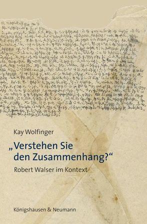 """""""Verstehen Sie den Zusammenhang?"""" von Wolfinger,  Kay"""
