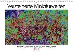 Versteinerte Miniaturwelten – Farbenspiele auf Solnhofener Plattenkalk (Wandkalender 2018 DIN A4 quer) von Leitner,  Dietmar
