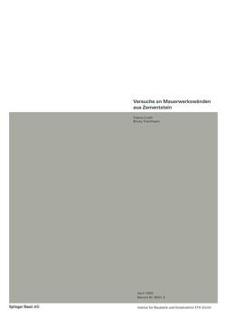Versuche an Mauerwerkswänden aus Zementstein von LURATI, THÜRLIMANN