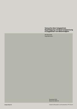 Versuche über Längsschub, Querbiegung und Quervorspannung in Zugplatten von Betonträgern von BACCHETTA, Bachmann