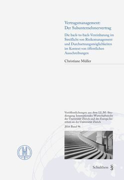 Vertragsmanagement: Der Subunternehmervertrag von Müller,  Christiane
