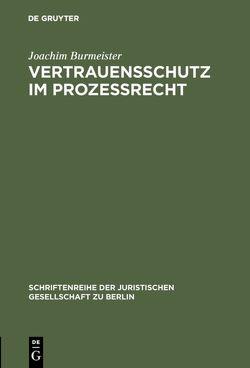 Vertrauensschutz im Prozeßrecht von Burmeister,  Joachim