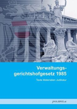 Verwaltungsgerichtshofgesetz 1985 von proLIBRIS VerlagsgesmbH
