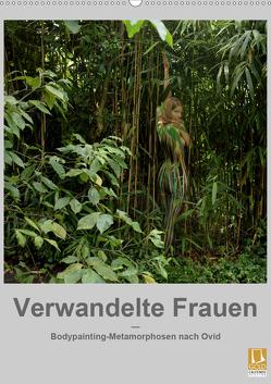 Verwandelte Frauen – Bodypainting-Metamorphosen nach Ovid (Wandkalender 2021 DIN A2 hoch) von fru.ch