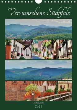 Verwunschene Südpfalz (Wandkalender 2021 DIN A4 hoch) von Janke,  Andrea